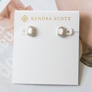 Kendra Scott Cade Earrings White Pearl / Silver